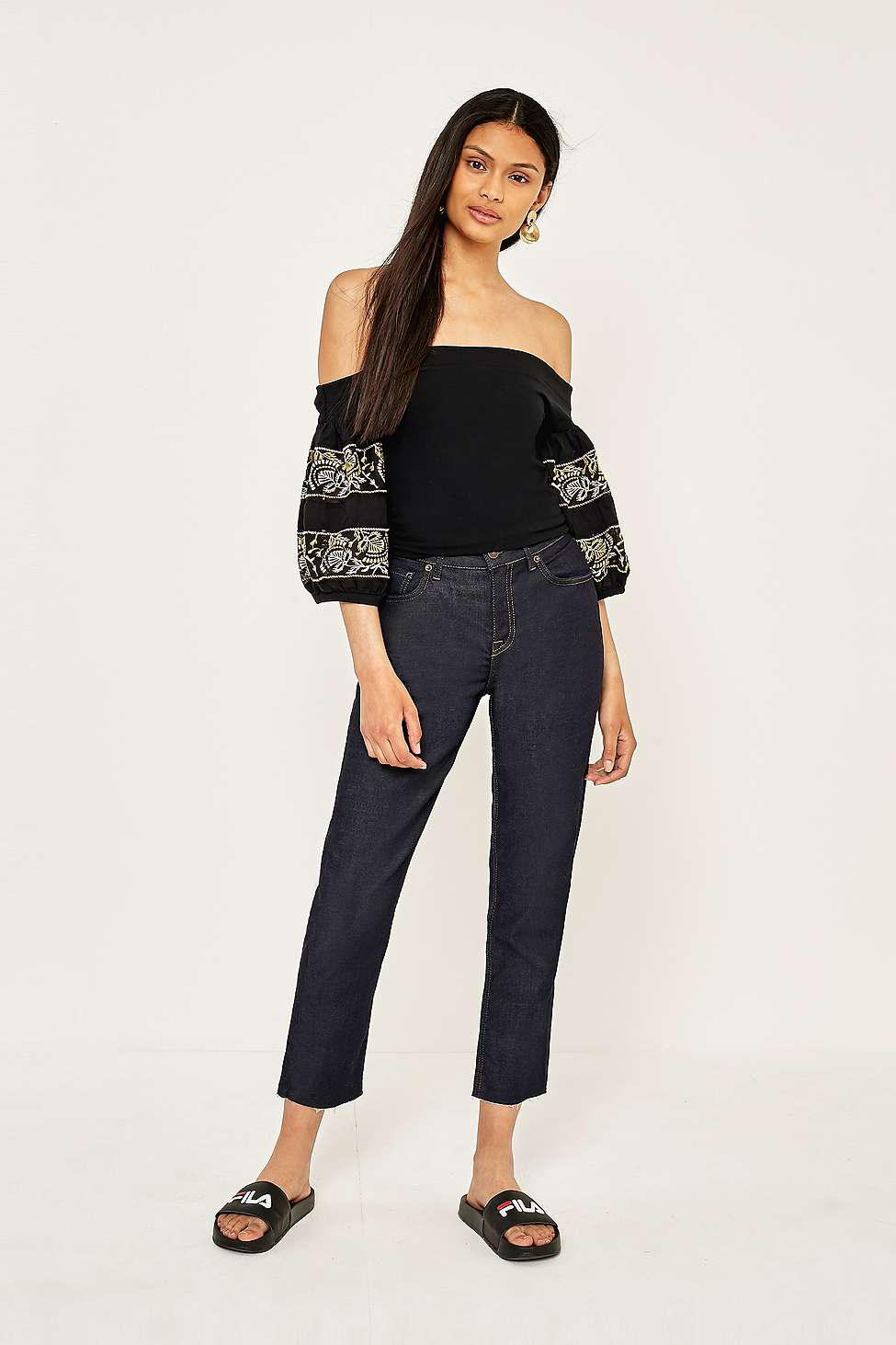 fa4b32cc52159 Free People Rock With It Off-the-shoulder Embroidered Top - Womens M ...