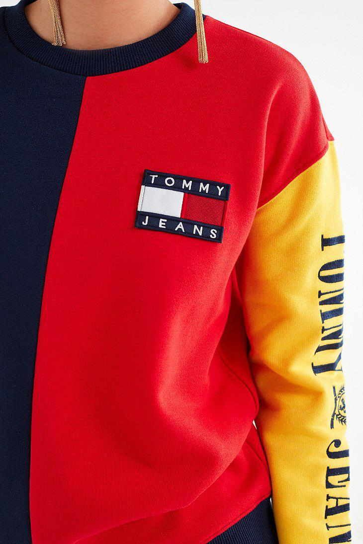 lyst tommy hilfiger tommy jeans 90s colorblock