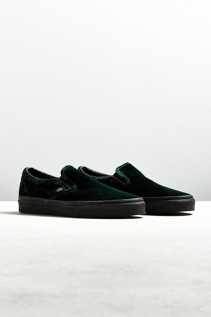 eb168eaf759b27 Lyst - Vans Vans Classic Slip-on Green Velvet Sneaker in Green for Men