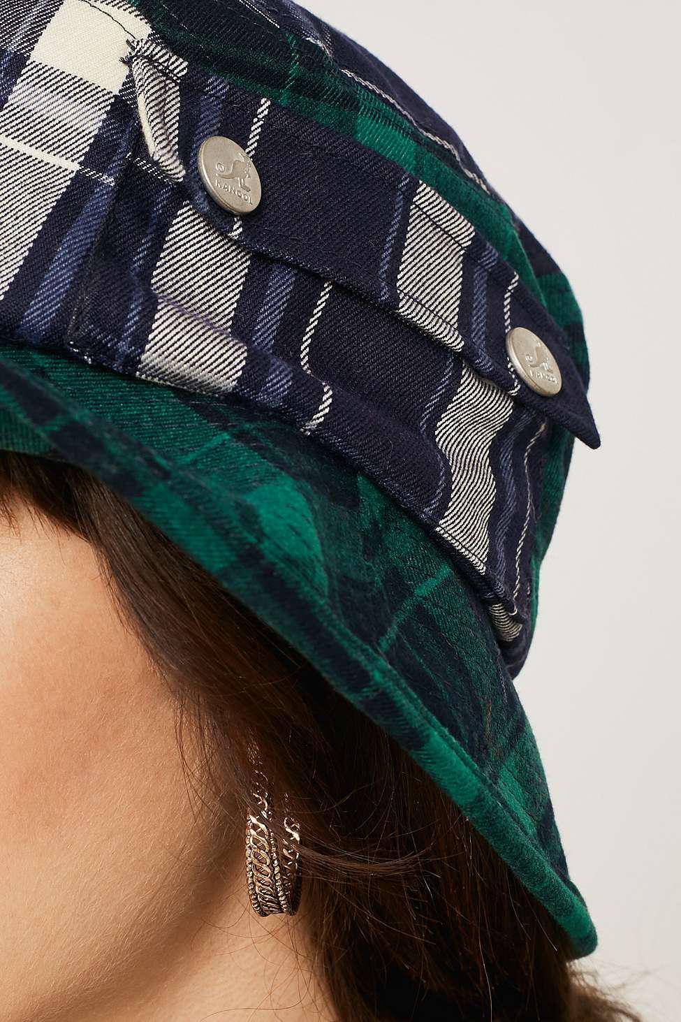 8c645a71 Kangol Plaid On Plaid Bucket Hat - Womens M in Green - Lyst