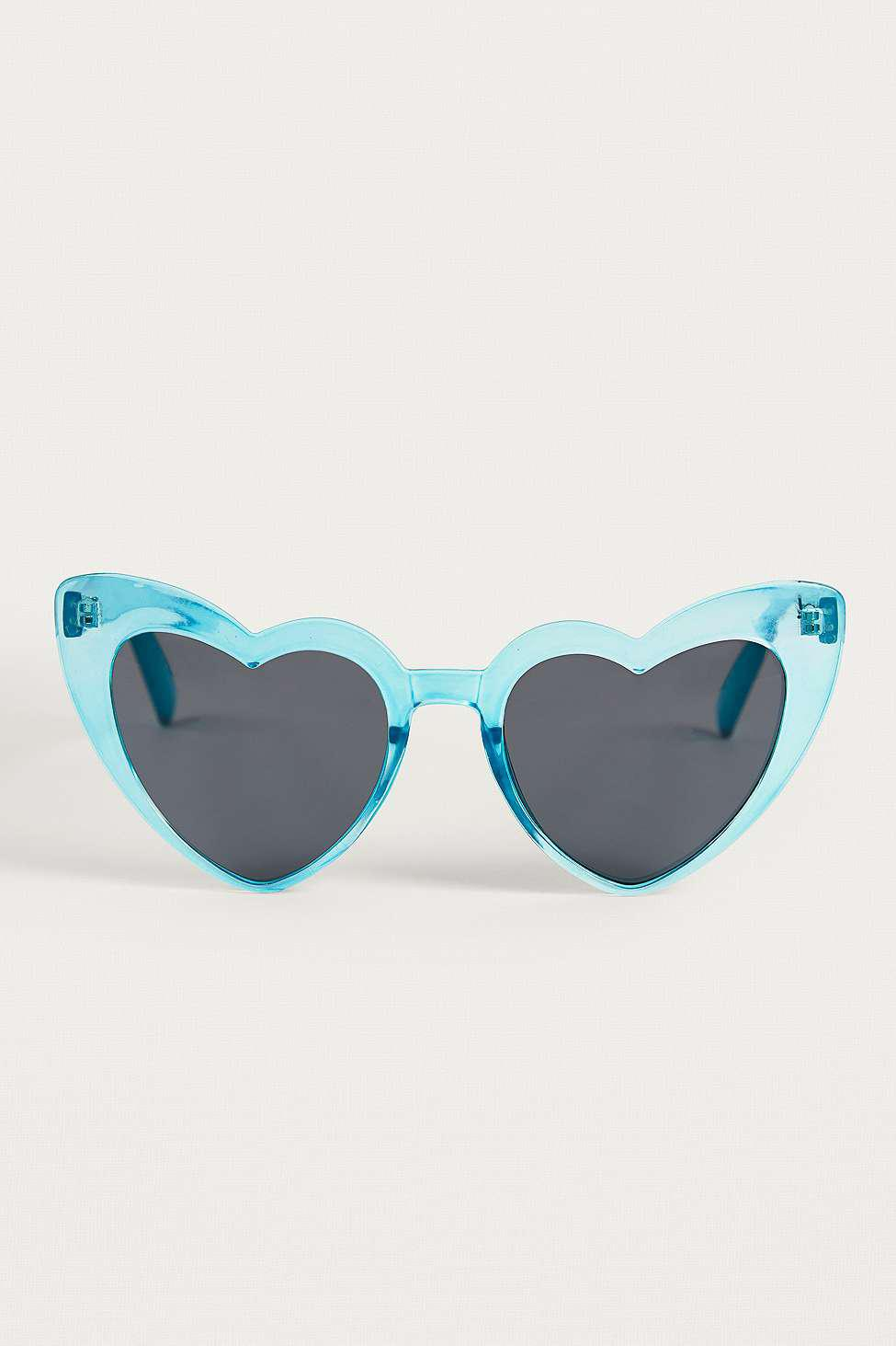 Urban Outfitters Oversized Blue Heart Sunglasses
