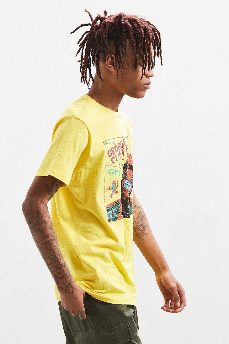 Urban Outfitters Yellow George Clinton Atomic Dog Tee for men