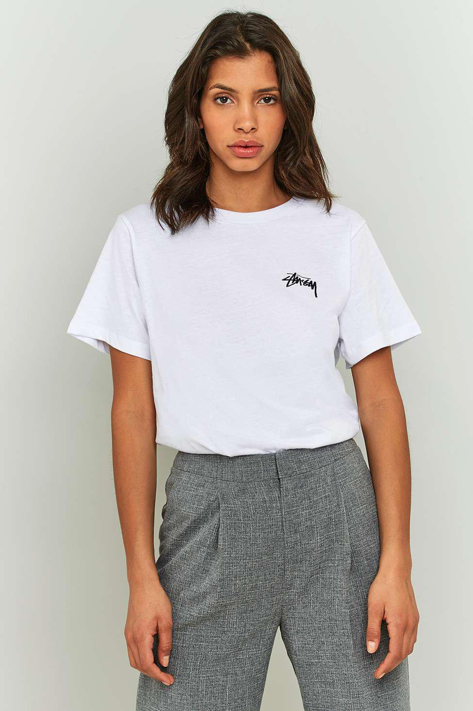 c378fd36 Stussy Eight Ball Boyfriend T-shirt - Womens S in White - Lyst