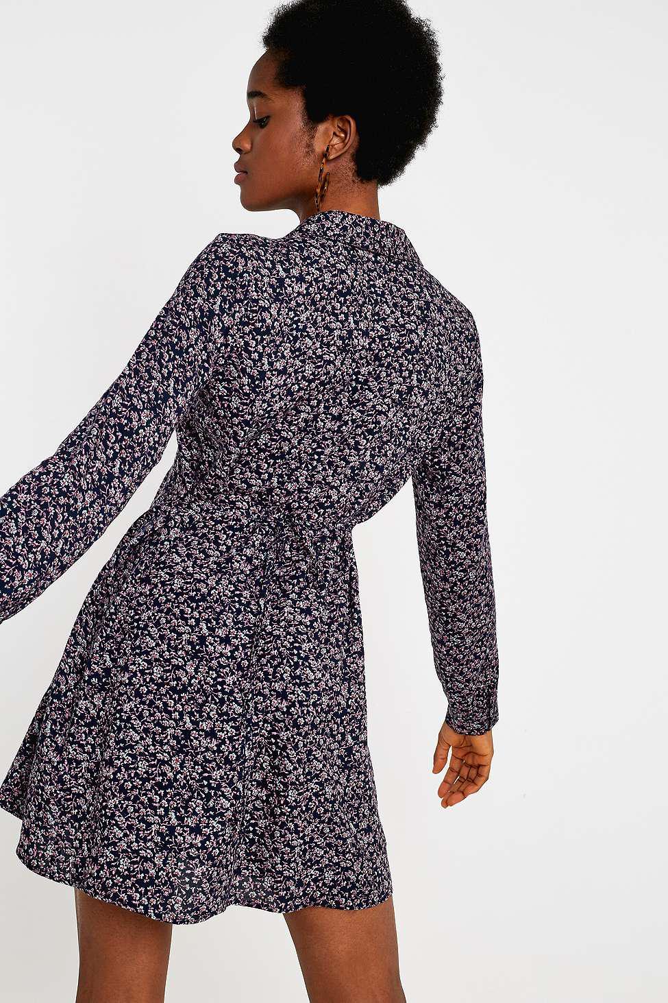 Urban Renewal Remnants Ditsy Pink Tea Dress - Womens S in Blue - Lyst 5c2f7d66a