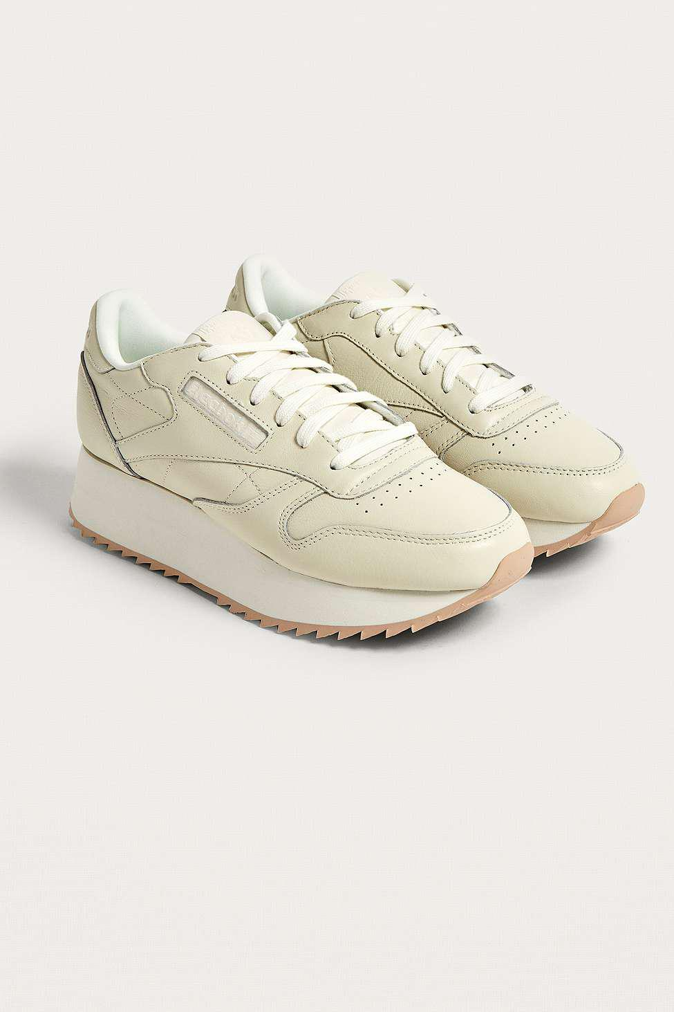 23454964b5e Reebok Classic Leather Double Trainers - Womens Uk 4 in White - Lyst
