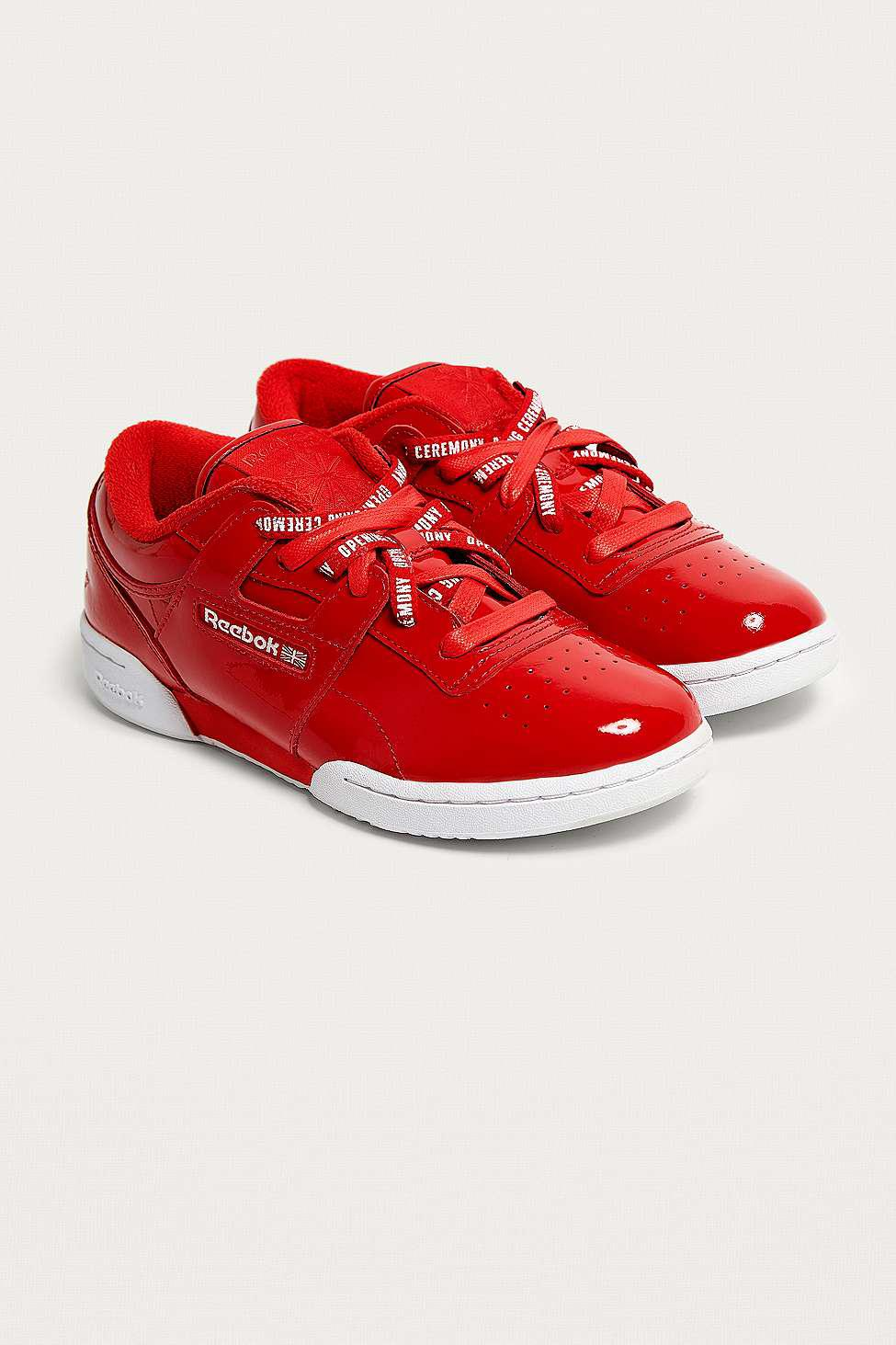 Reebok Leather X Opening Ceremony Oc Workout Lo Clean Trainers in Red