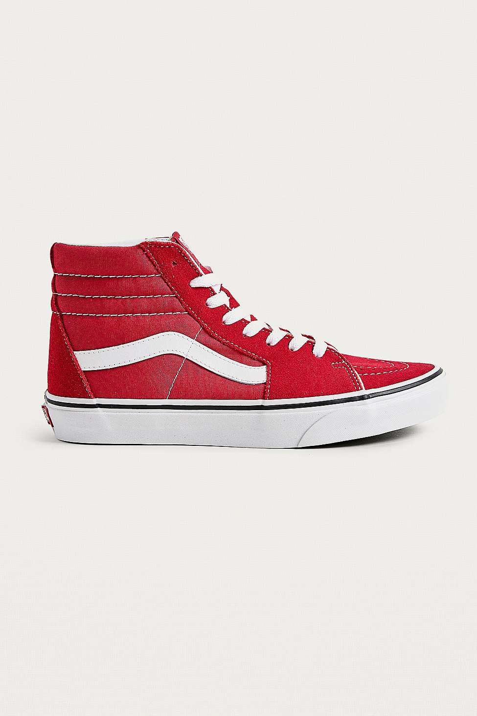 66a886966977b Vans Sk8-hi Red Trainers in Red for Men - Lyst