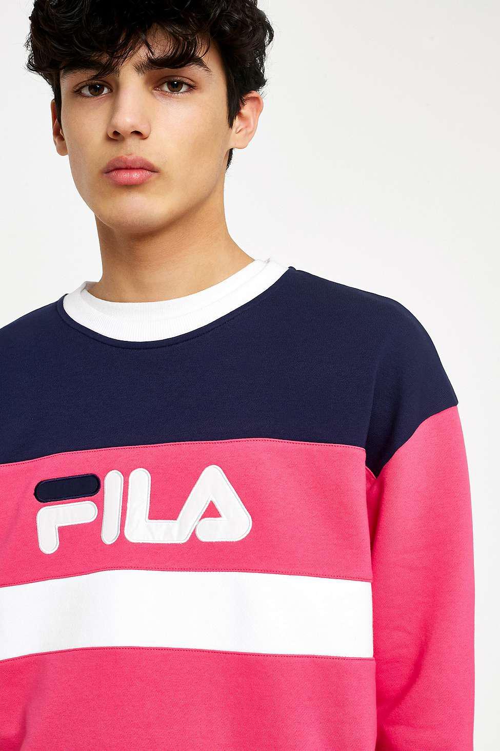 6e9b37015a61 Fila Jupiter Cut And Sew Sweatshirt - Mens L in Pink for Men - Lyst