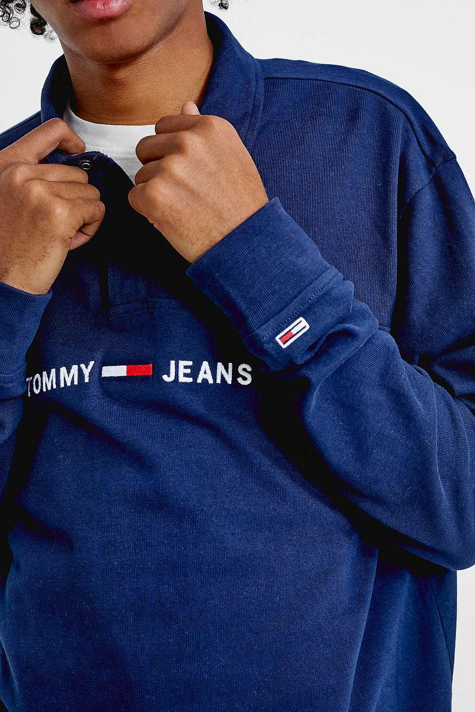 8d61a036 Tommy Hilfiger - Blue Essential Navy Rugby Shirt for Men - Lyst. View  fullscreen