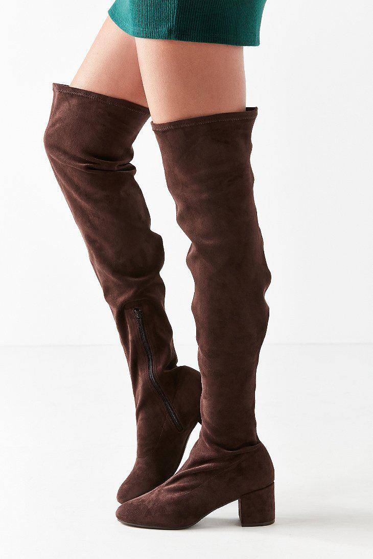 1b74014c6519 Lyst - Urban Outfitters Thelma Over-the-knee Boot in Brown