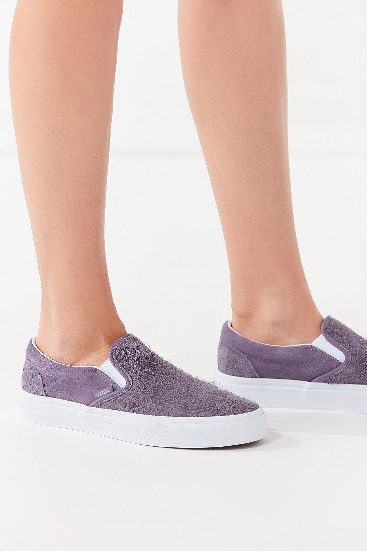 HAIRY SUEDE SLIP-ON - Sneaker low - purple oUdNcbOQ