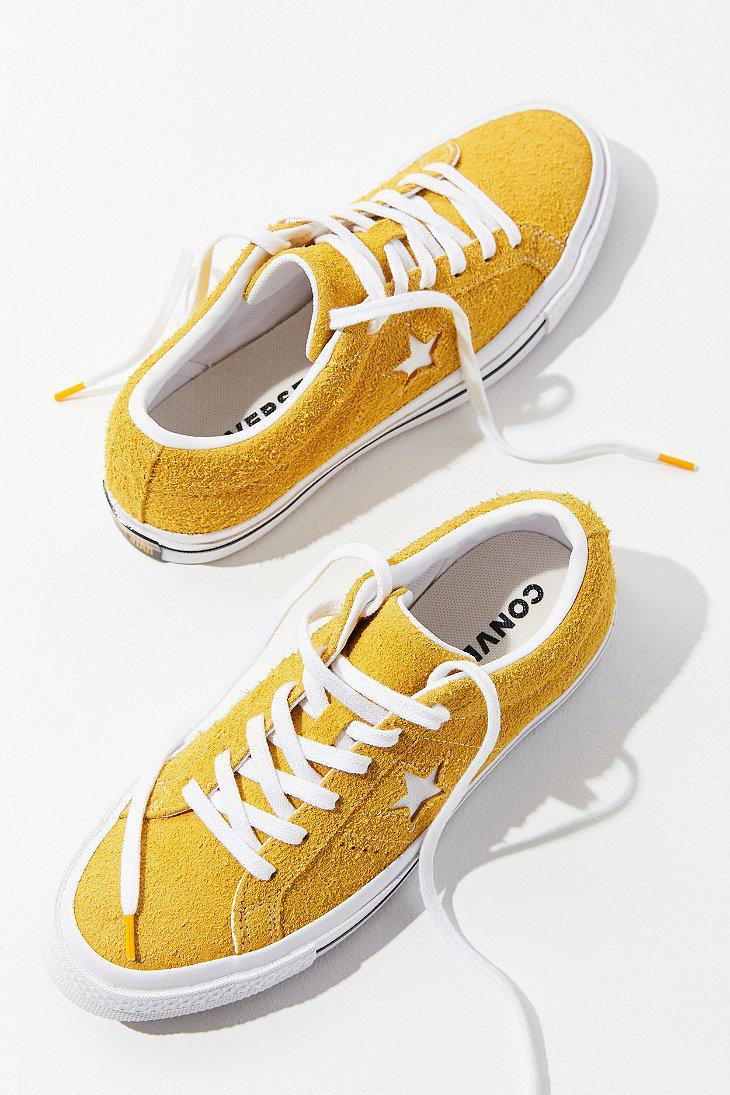 917695ce5fc493 Lyst - Converse Converse One Star Suede Sneaker in Yellow