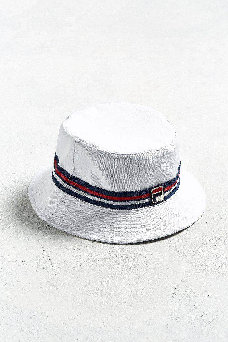 c03a4cdd3868 Lyst - Fila Fila Reversible Bucket Hat in White for Men