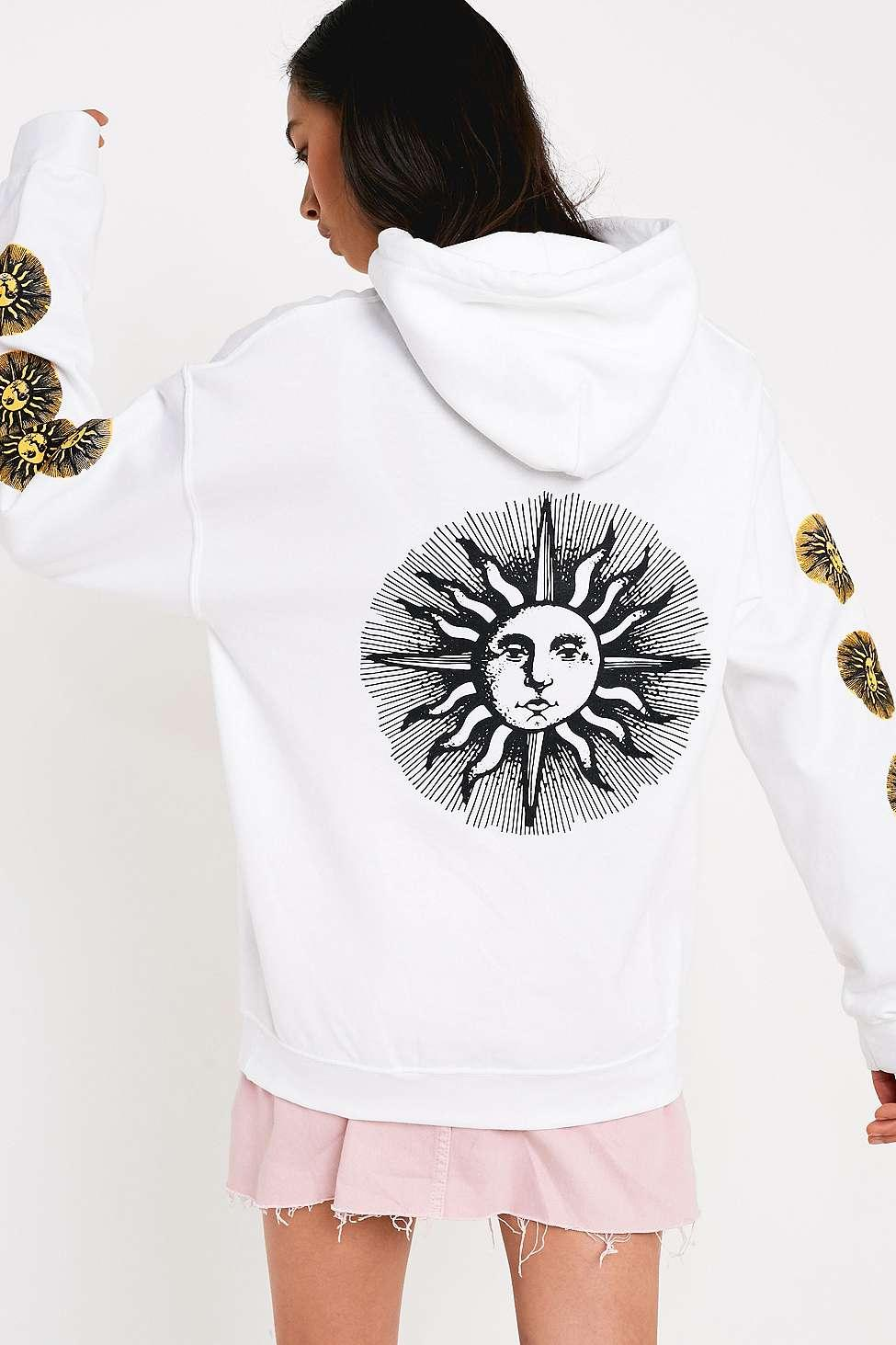 Urban Outfitters White Uo Nocturn Skate Hoodie - Womens Xs