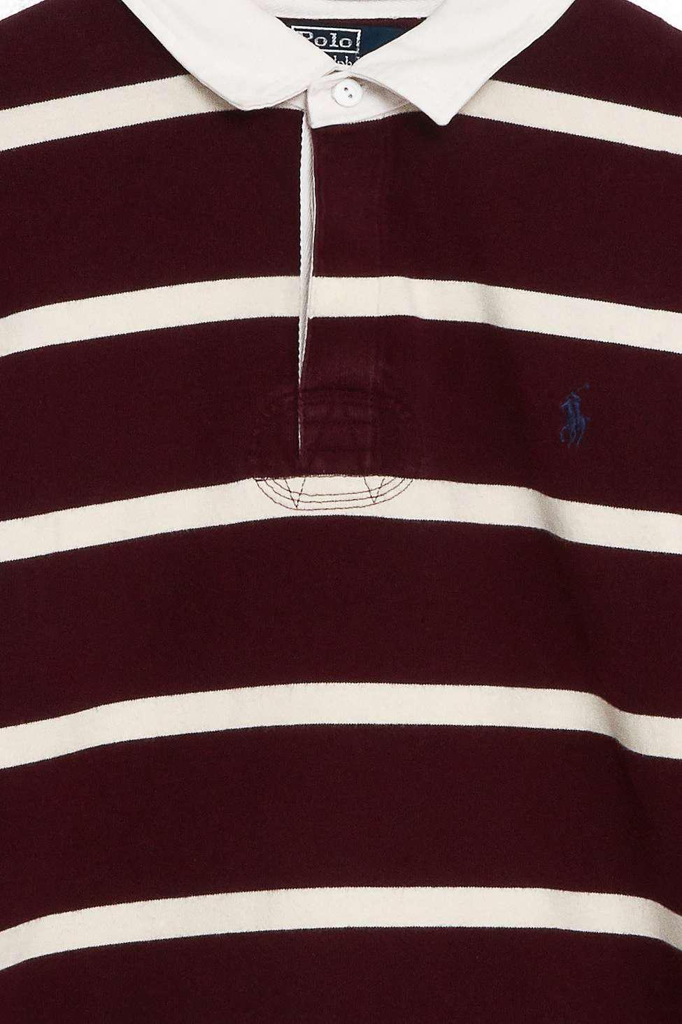 f19f782d27ad Urban Renewal Vintage One-of-a-kind Ralph Lauren Burgundy Striped ...