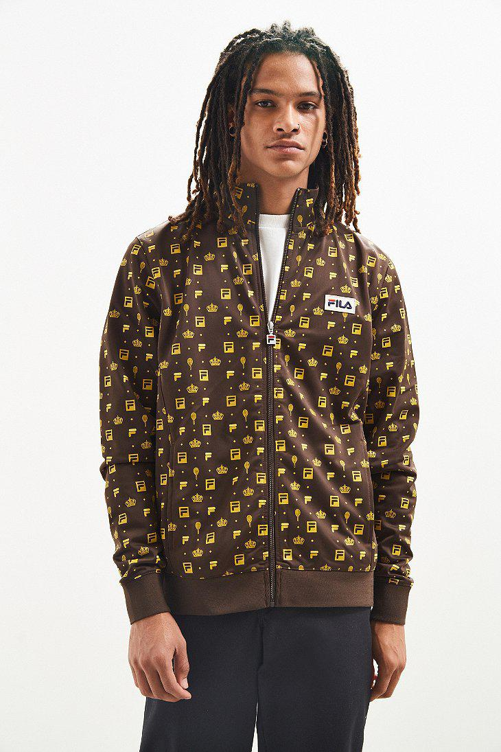 c6c0e7a9186 Fila Fila + Uo Monogram Track Jacket in Brown for Men - Lyst