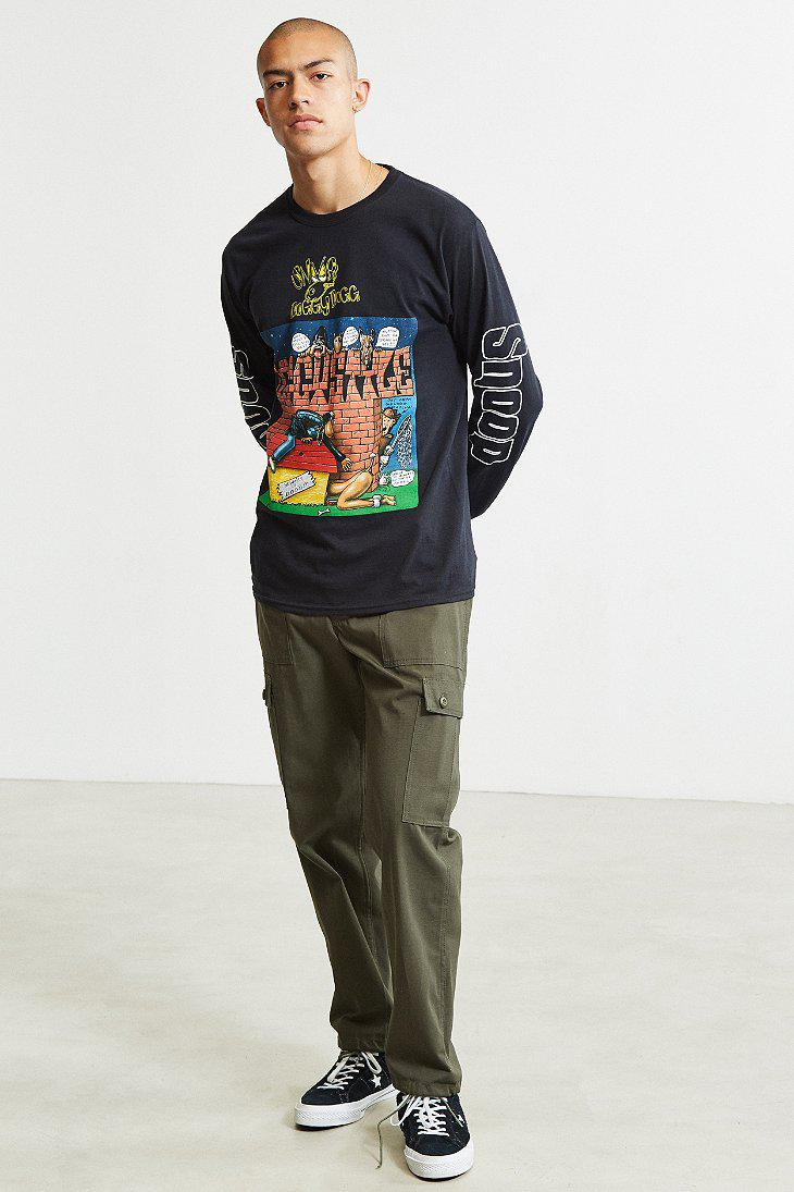 ChaseM Snoop Dogg Doggystyle Womens Baseball Raglan Short Sleeve T-Shirt Black
