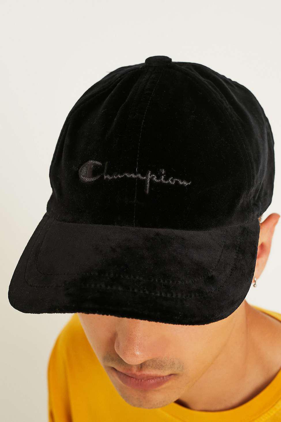 1b636772e Champion Velvet Black Cap - Mens All for men