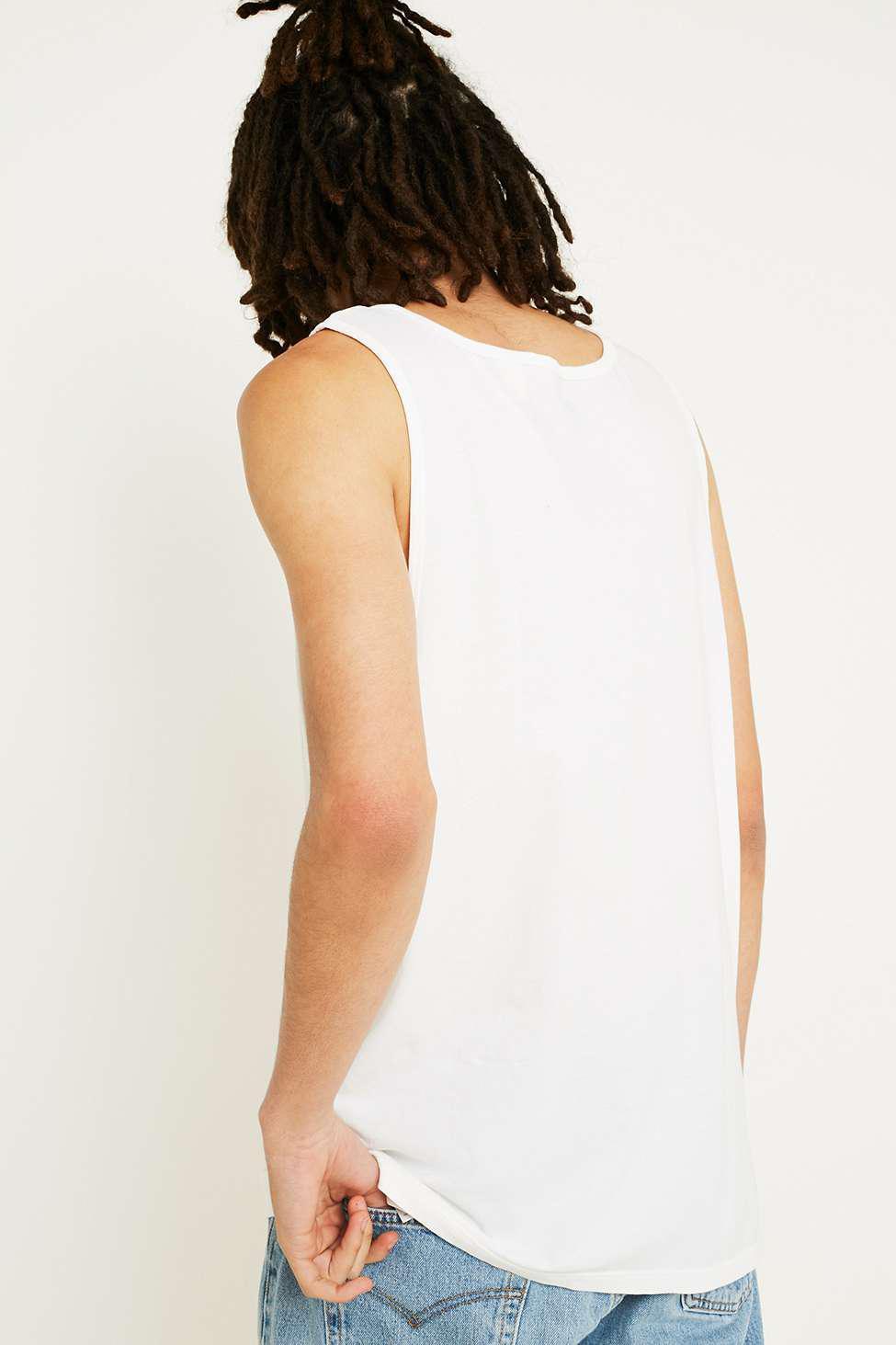 Levi's Cotton Batwing Logo White Vest for Men