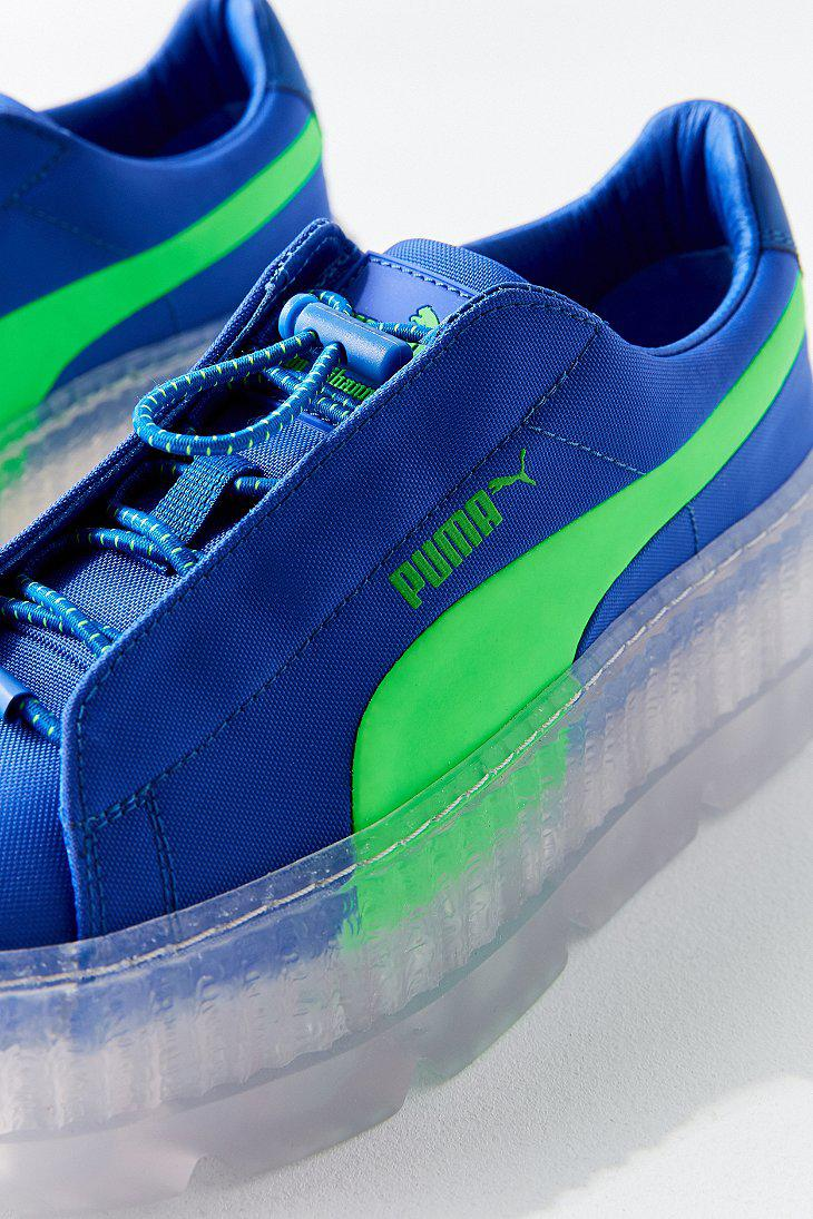 promo code 650f9 858d3 Blue Blue Blue In Pleated Fenty Rihanna Creeper By By By ...