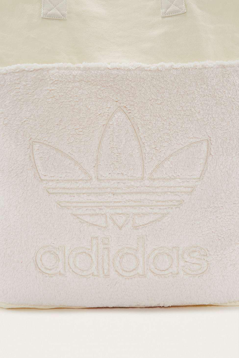 adidas Originals Trefoil Canvas Tote Bag in White