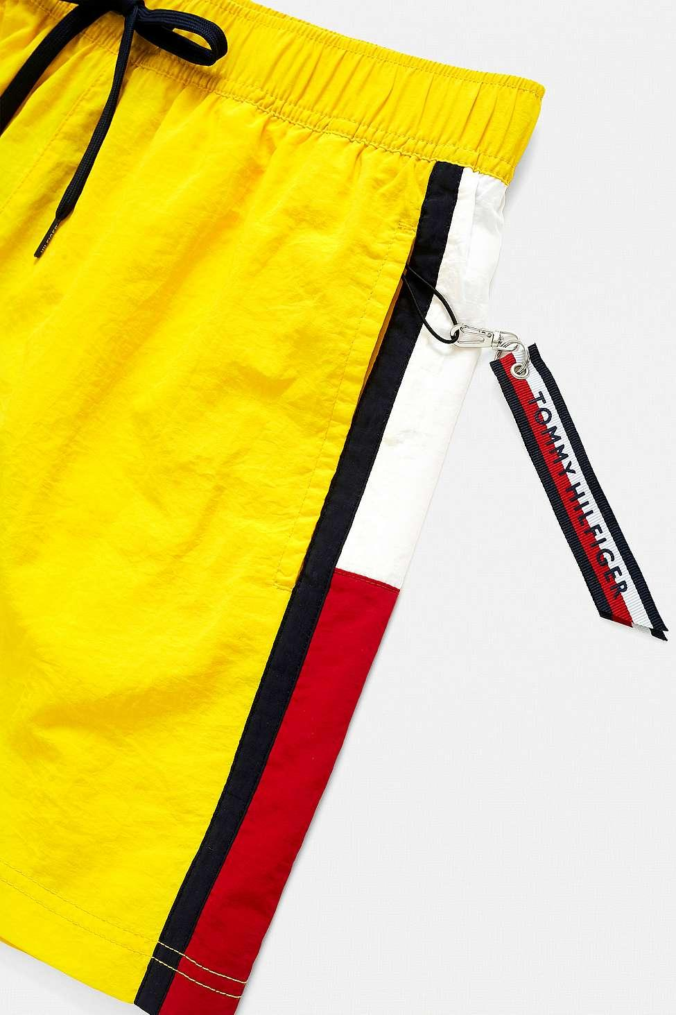 1afed2c1dc Tommy Hilfiger - Side Flag Yellow Swim Shorts - Mens M for Men - Lyst. View  fullscreen