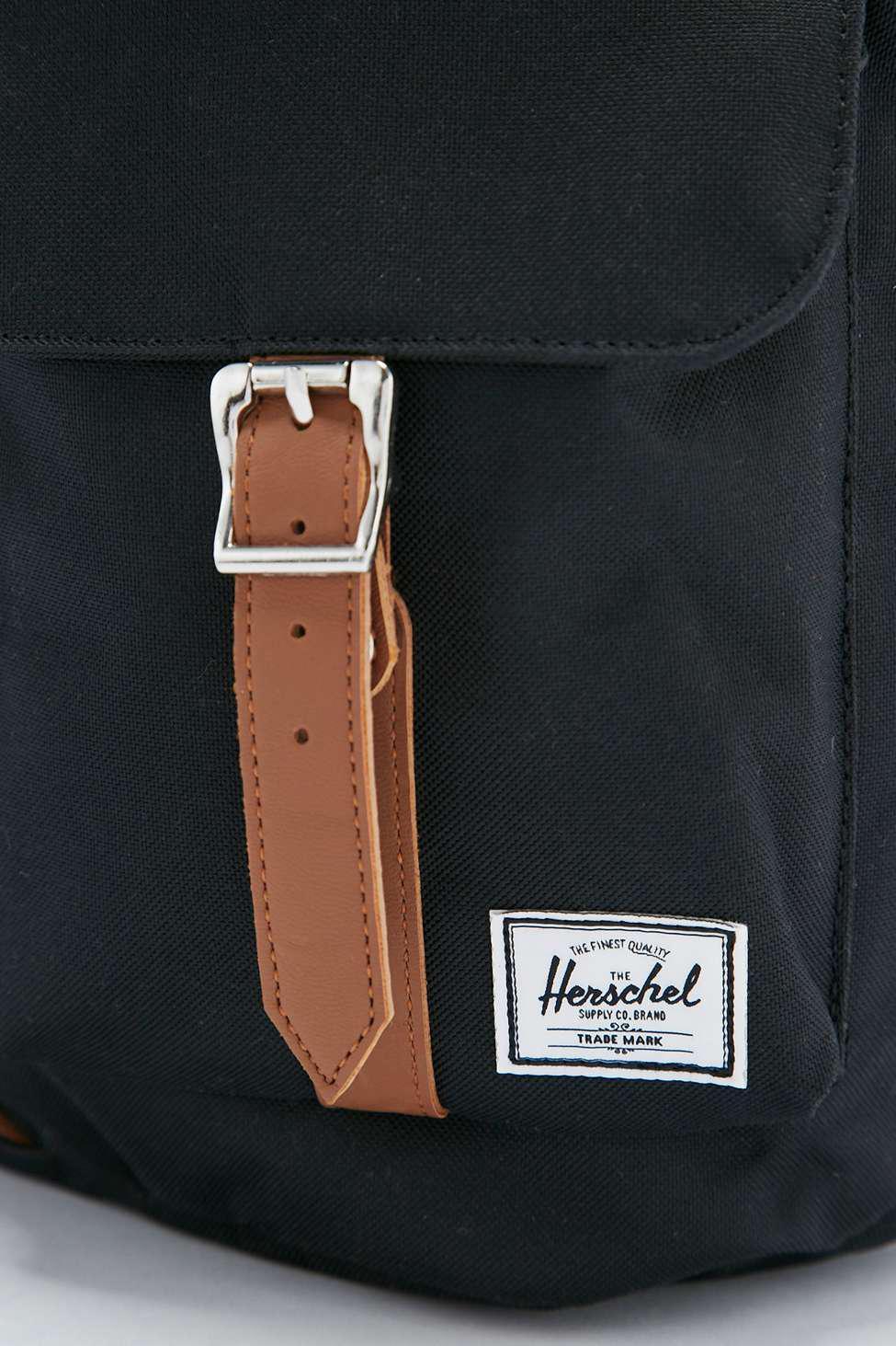 Herschel Supply Co. Leather Dawson Black Backpack for Men