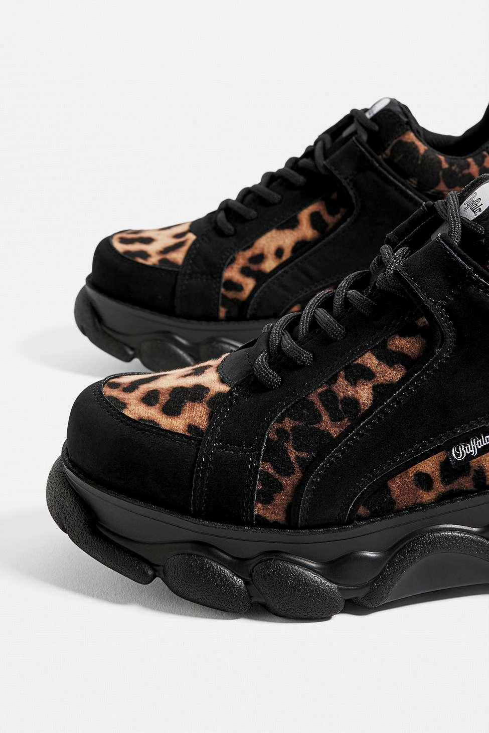 Buffalo Corin Leopard Print Trainers in