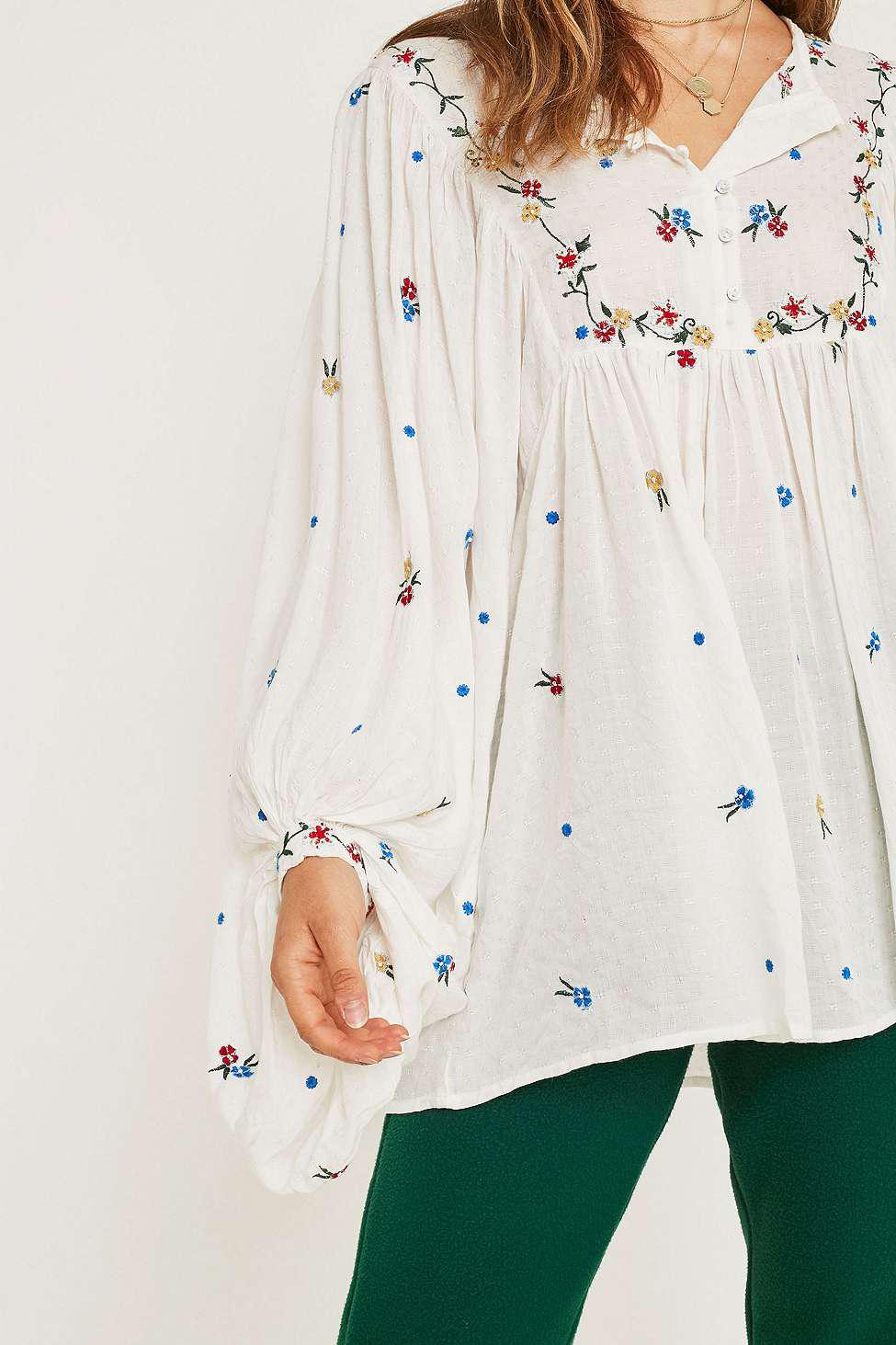 ea4c9474366 Free People Kiss From A Rose Embroidered Blouse - Womens Xs in ...