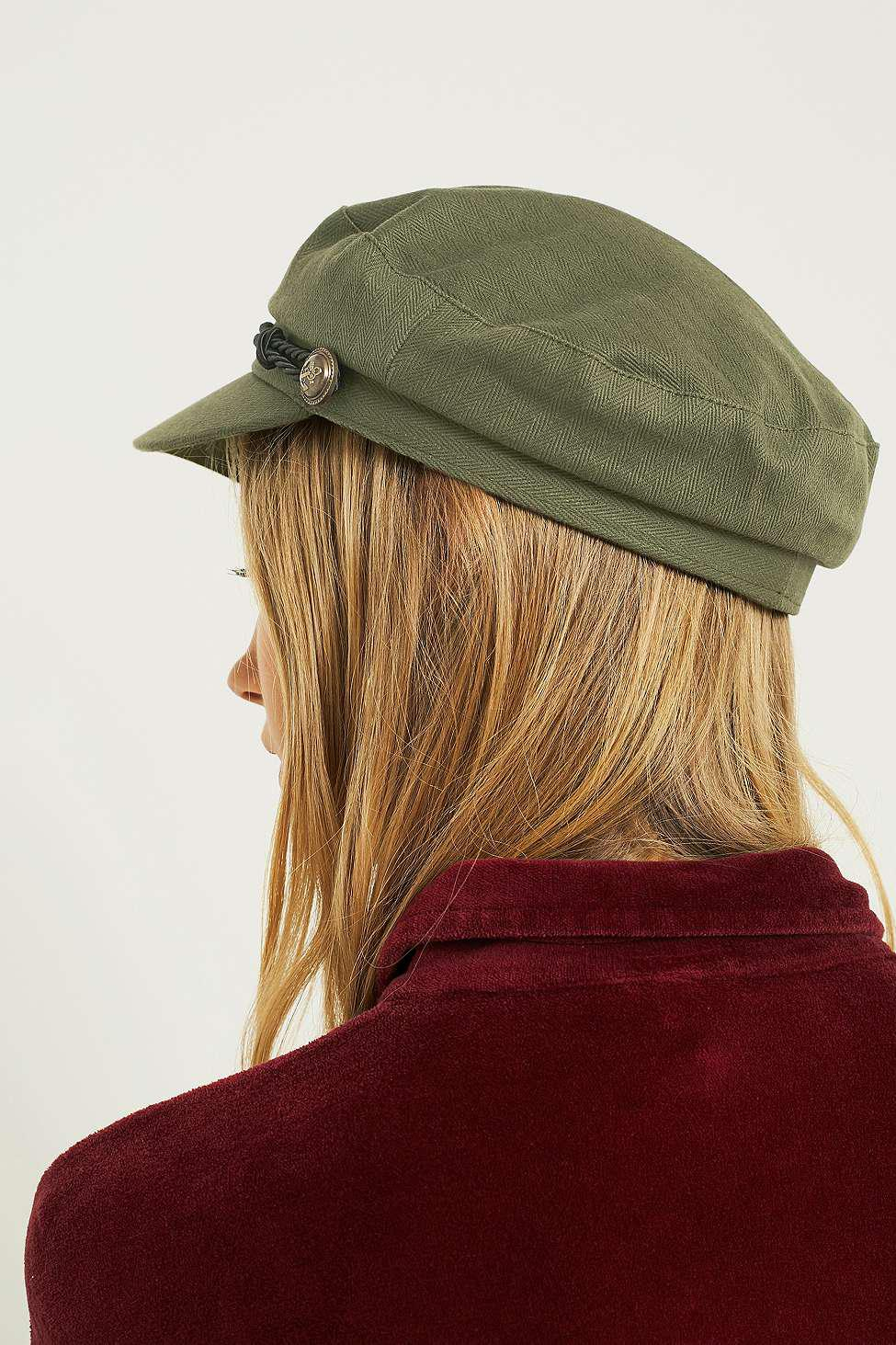 b91394283e85 Urban Outfitters Uo Baker Boy Khaki Cap - Womens All in Green - Lyst