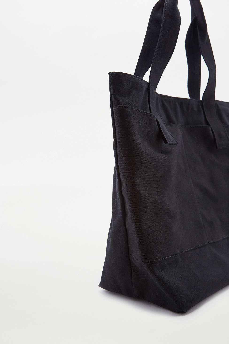 Urban Outfitters Oversized Black Canvas Tote Bag