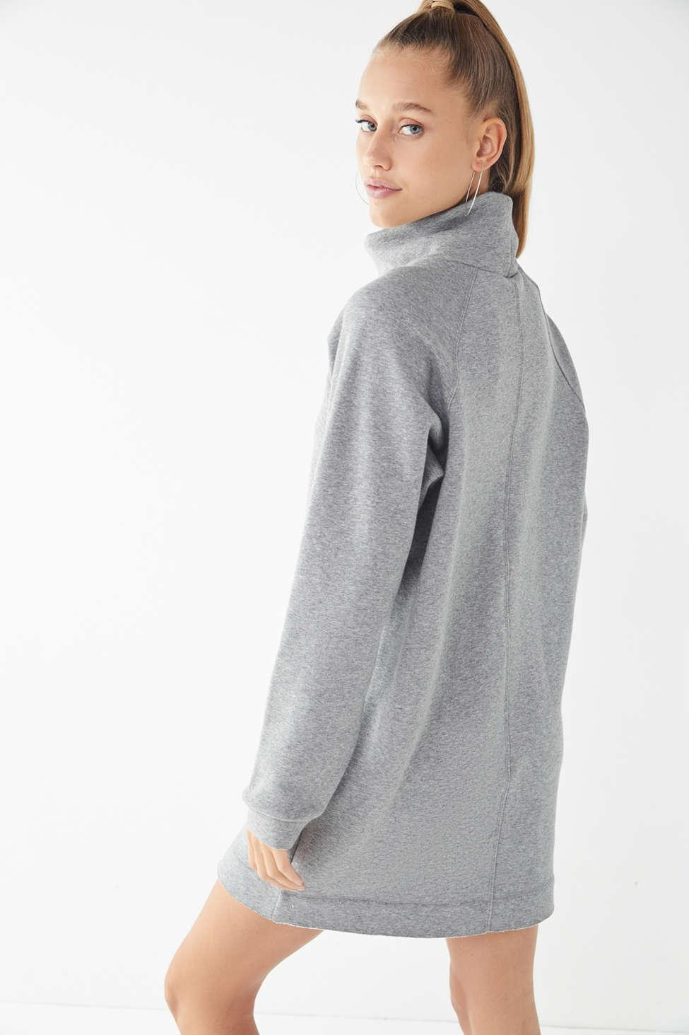 37a1a75352f Lyst - Urban Outfitters Uo Bunny Turtleneck Sweatshirt Dress in Gray