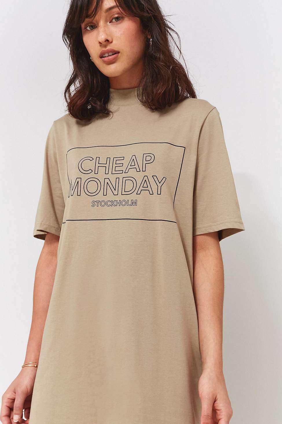 Womens Logo Natural Xs Beige T Monday In Smash Cheap Shirt Dress QtsrxhdC