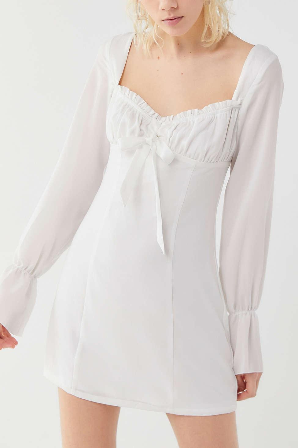 cede176b25565 Tiger Mist Orchard Empire Waist Mini Dress in White - Lyst