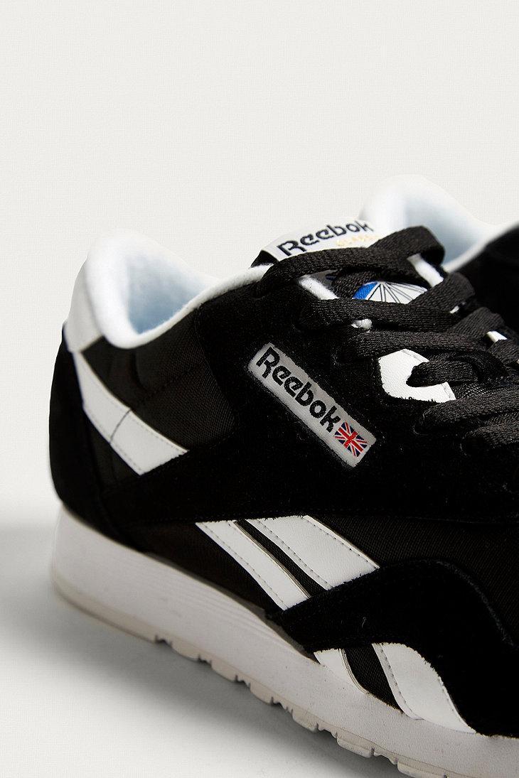 7e3273bc0ce Reebok Classic Nylon Premium Black + White Trainers in Black for Men ...