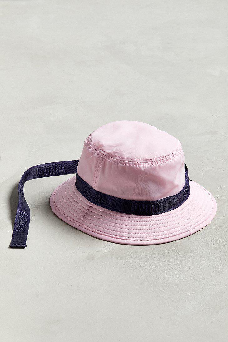 Lyst - PUMA Puma Fenty By Rihanna Strapped Bucket Hat in Pink for Men 5127e0965a3