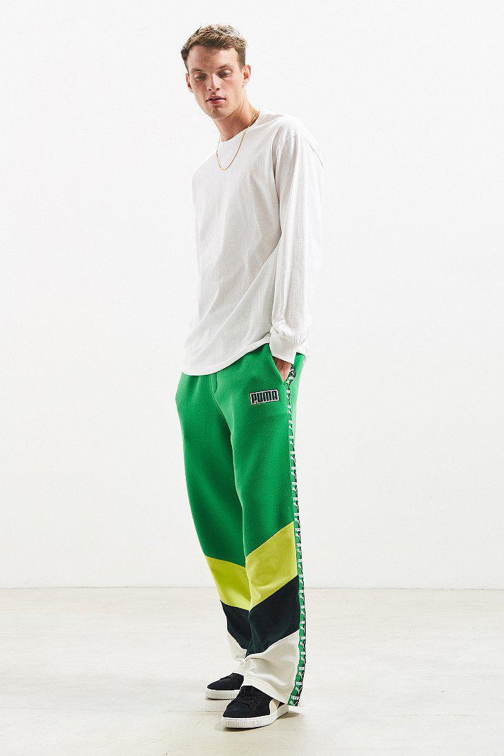 0c888206213ba PUMA Green Fenty By Rihanna Blocked Taped Track Pant for men