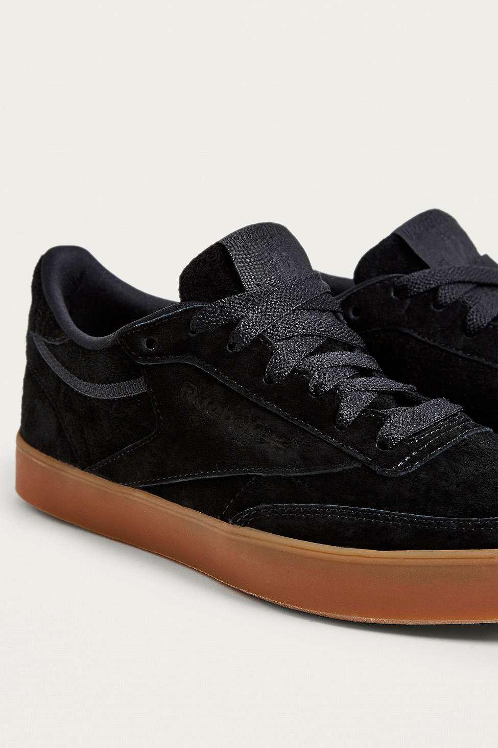 Reebok Leather Club C 85 Fvs Black Trainers
