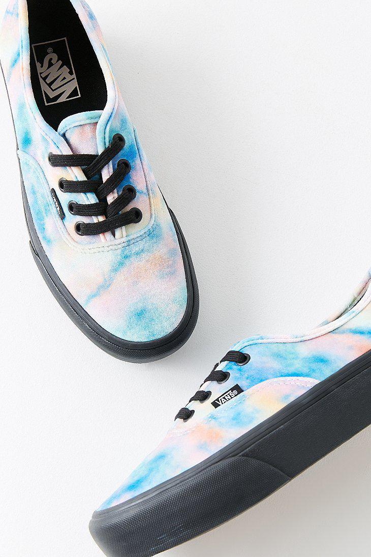 23d7d6bbd4 Lyst - Vans Vans Authentic Platform Velvet Tie-dye Sneaker in Blue