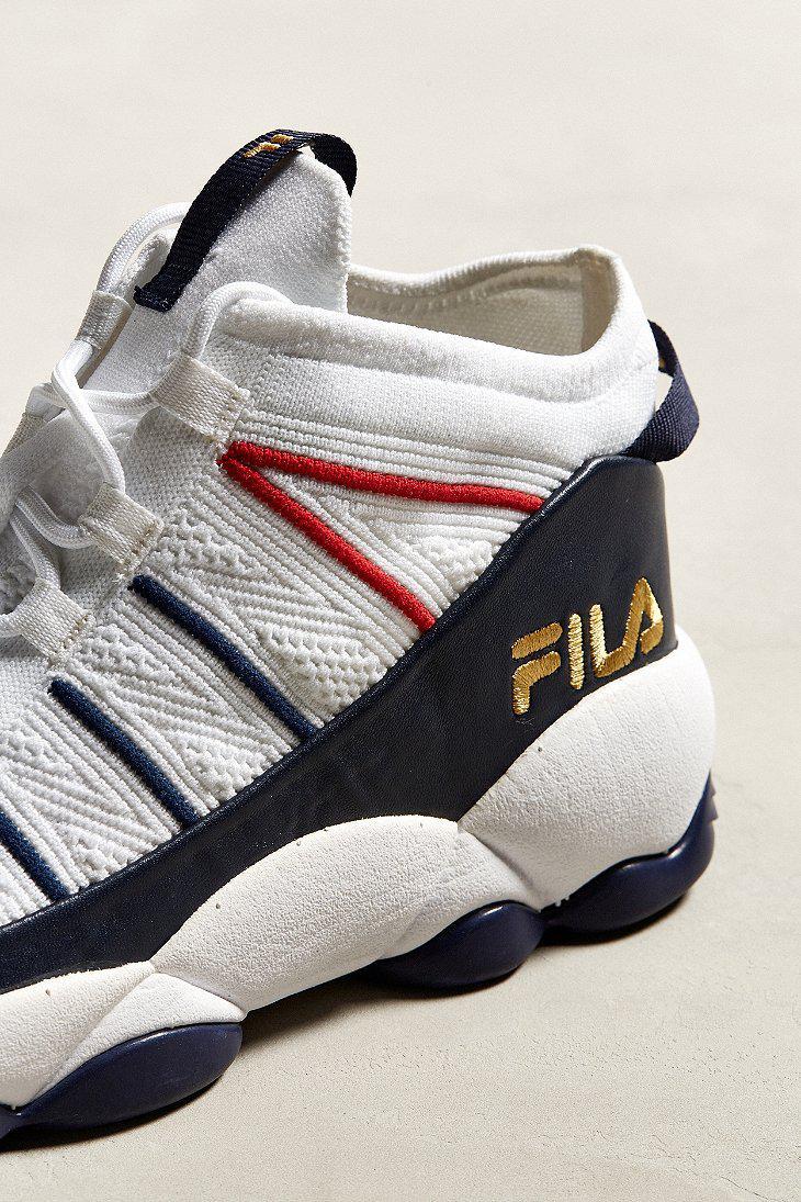 Fila White Fila Spaghetti Knit Sneaker for men