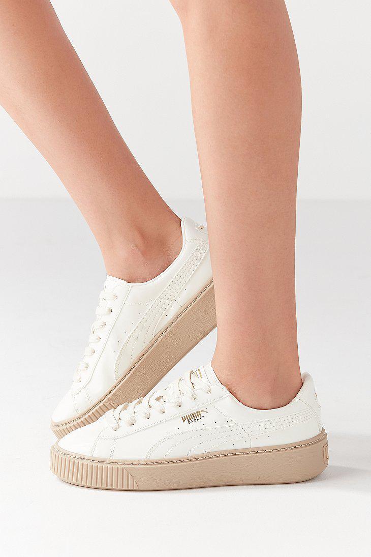 e5380c81 PUMA Natural Basket Platform Patent Sneaker