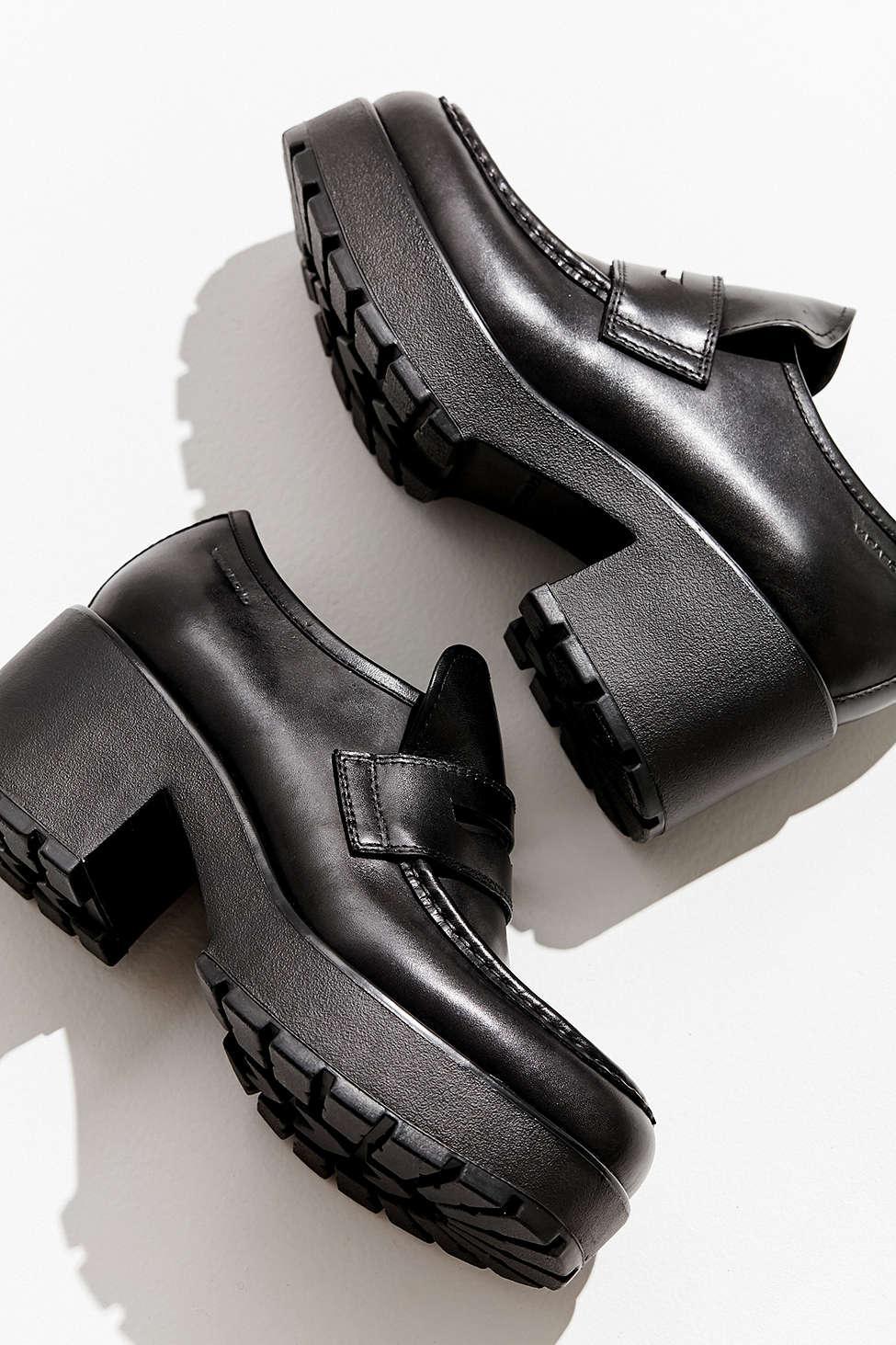 Vagabond Leather Dioon Platform Loafer