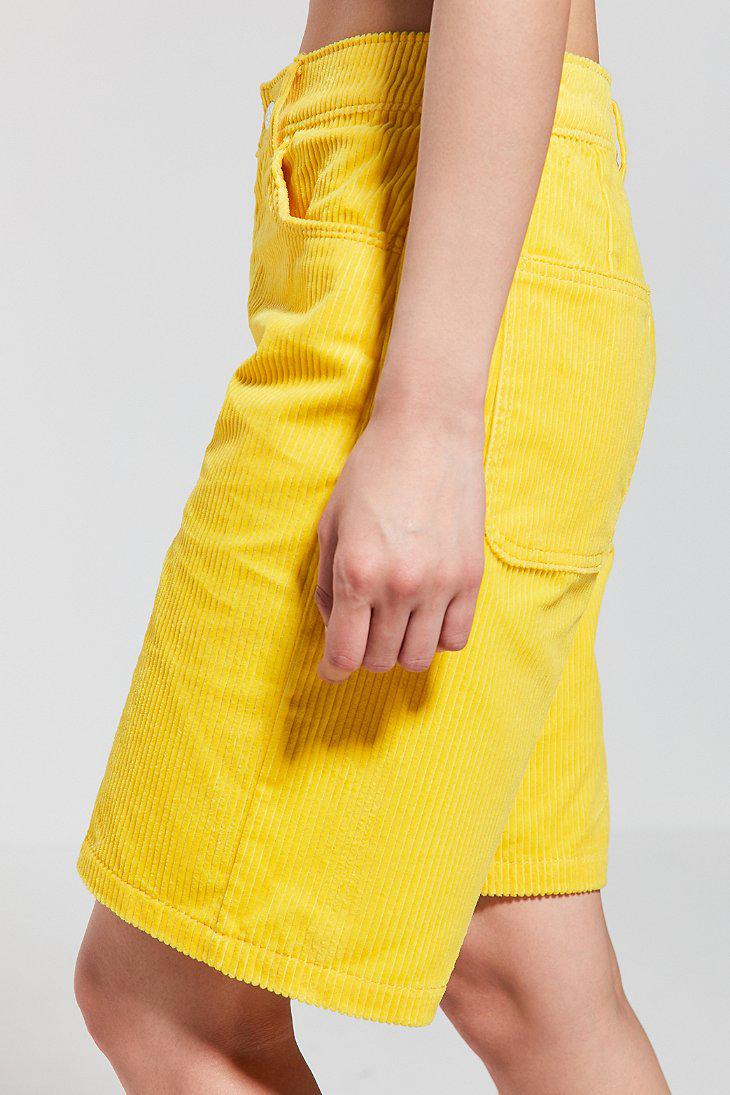 7b5fbfe499a9 Lyst - Converse Converse X Mademe Oversized Corduroy Short in Yellow