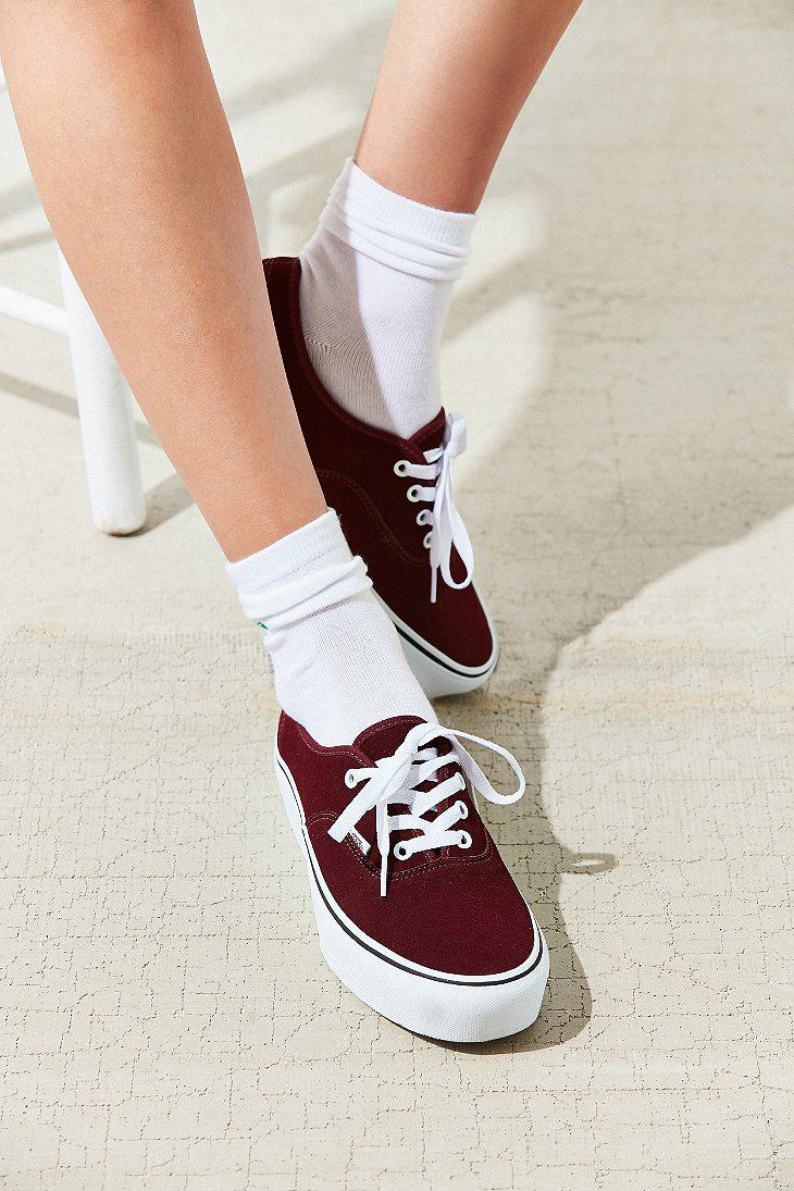 Vans Suede Authentic Platform 2.0 Sneaker - Lyst