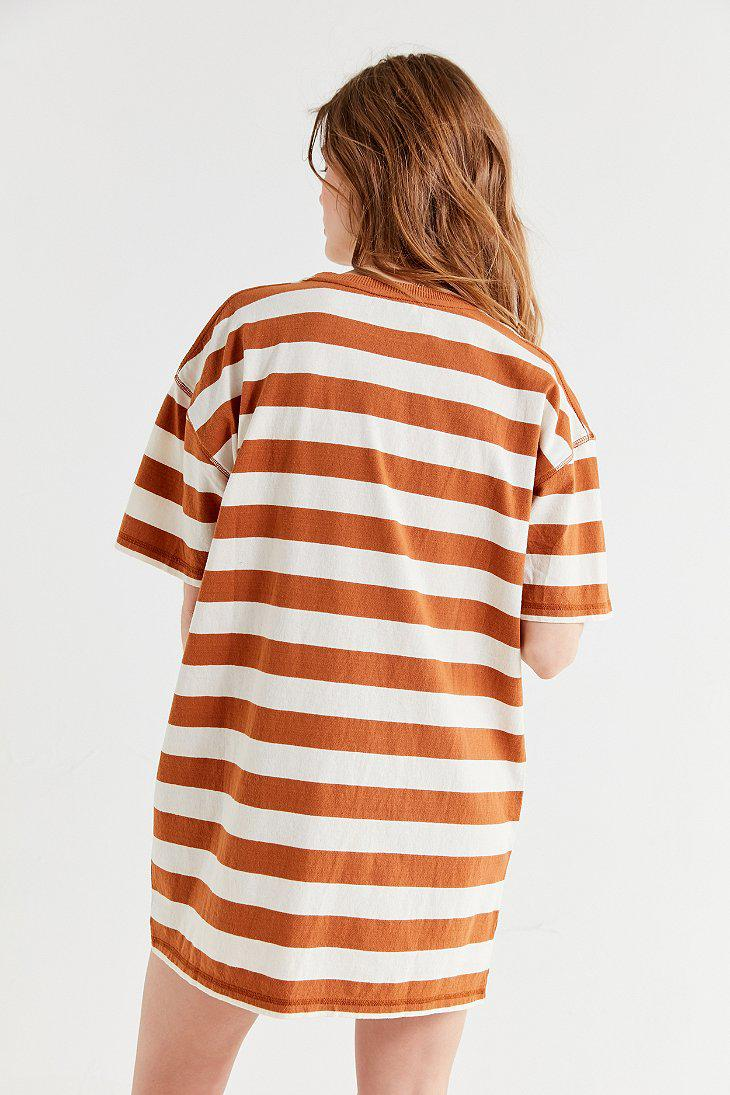 Uo Sydney Striped T-shirt Dress