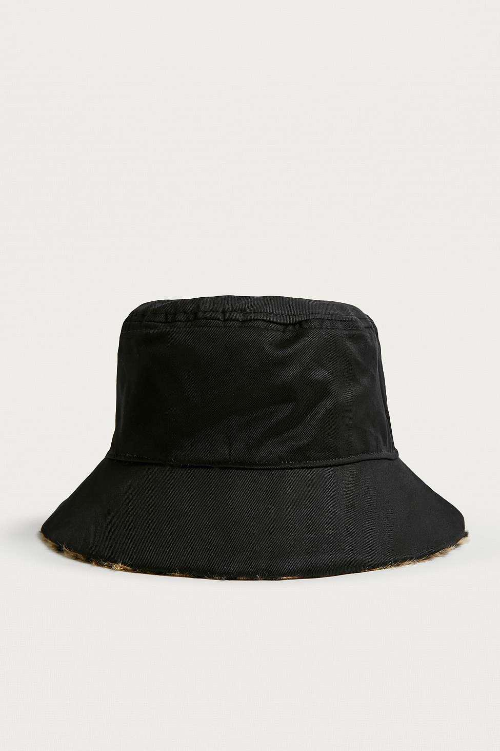 7f8bf72fd Urban Outfitters Brown Uo Reversible Leopard Print Faux Fur Bucket Hat -  Womens All