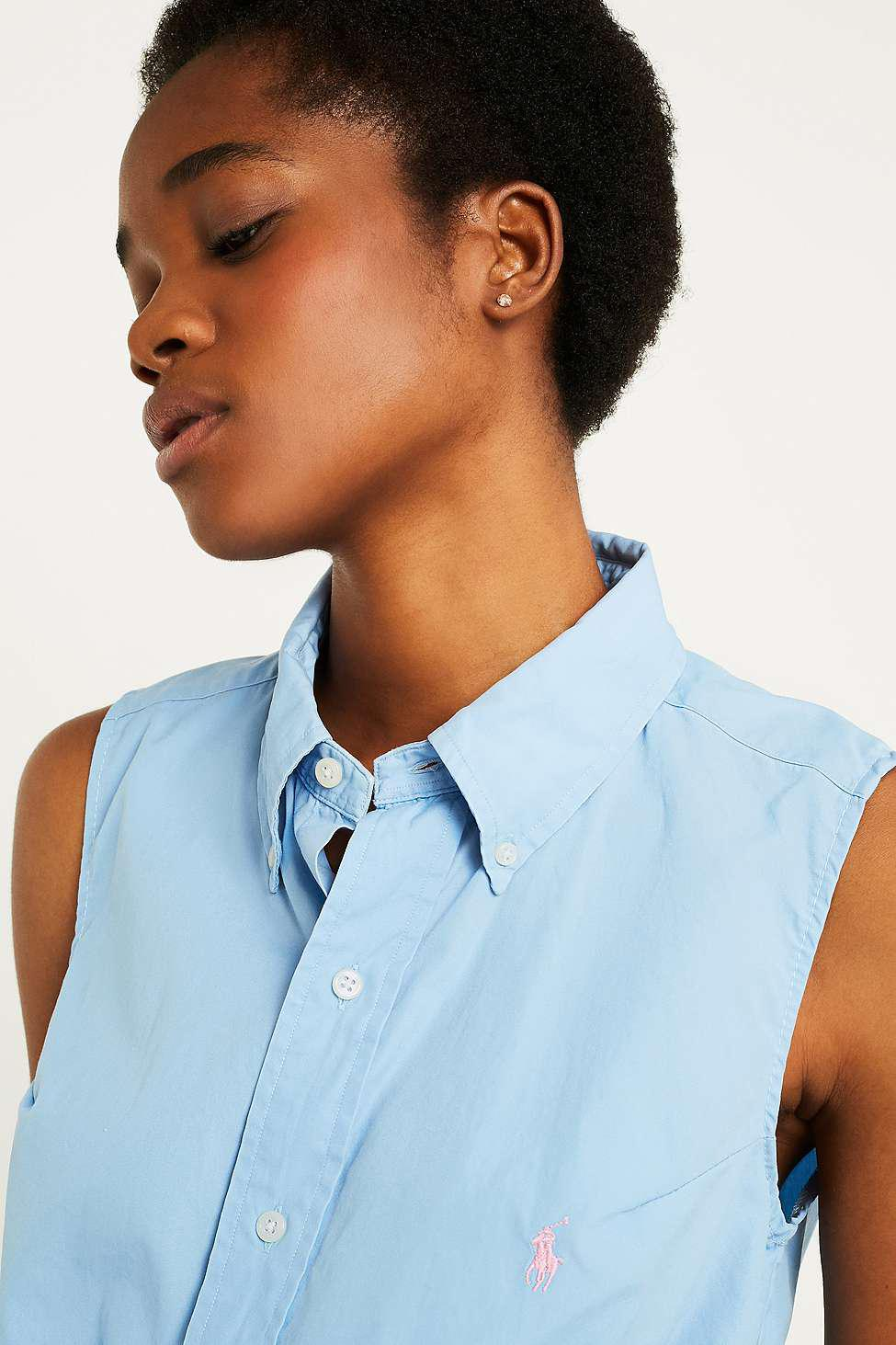 997e2b3fef21d Urban Renewal Vintage Customised Ralph Lauren Sleeveless Tie-front ...