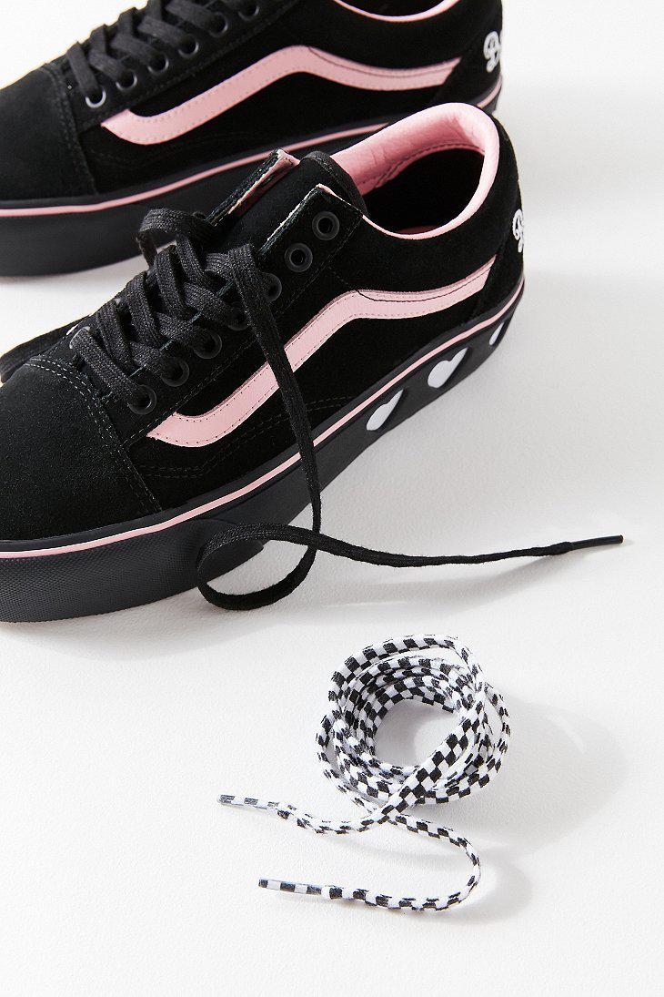 Lyst - Vans Vans X Lazy Oaf Old Skool Platform Sneaker in Black d37bb581c