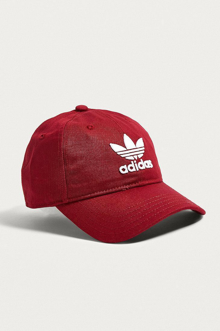 c92b3b02d4c7c Adidas Trefoil Collegiate Burgundy Dad Cap in Red for Men - Lyst