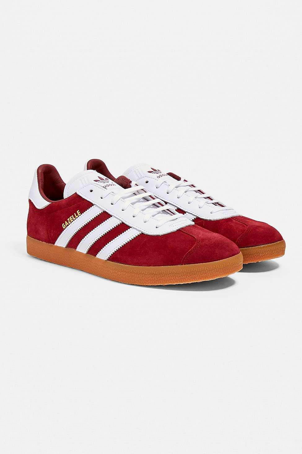 b34a8e990bb Adidas Gazelle Burgundy Trainers in Red for Men - Lyst
